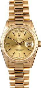 Rolex Day-Date 18238 Champagne Dial 18k Yellow Gold