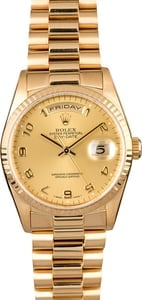 Rolex President 18238 with Champagne Arabic Dial