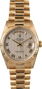 Rolex Presidential 18238 Ivory Pyramid Roman Dial