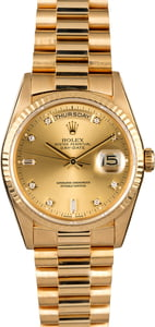 Men's Rolex President 18238 with Diamond Dial