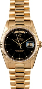 Used Rolex President 18238 Black Dial