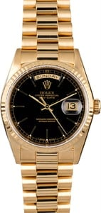 Rolex President 18238 Black Dial Day-Date