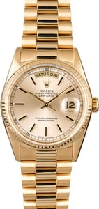 Used Rolex President 18238 Silver Dial Day-Date