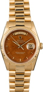 Rolex President 18238 Wood Dial