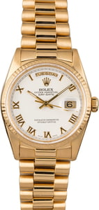 Pre-Owned Rolex President 18238 White Dial