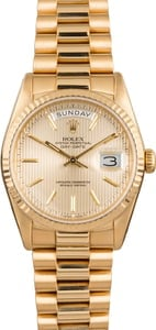 Used Rolex Day-Date President 18238 Champagne Tapestry Dial