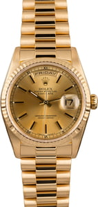 Used Rolex Day-Date President 18238 Champagne