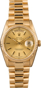 Pre-Owned Rolex President 18238 Champagne Index Dial T
