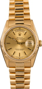 Men's Rolex President 18238 Yellow Gold Day Date