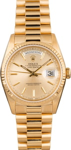 Used Rolex President 18238 Champagne Tapestry Dial