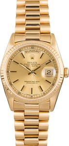 Pre Owned Rolex President 18238 Day-Date 18k Yellow Gold