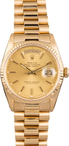 Pre Owned Rolex President 18238 Day-Date Yellow Gold