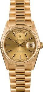 Pre-Owned Rolex President 18238 Champagne Index Dial