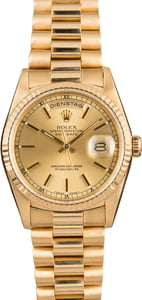Pre-Owned Rolex President 18238 German Day