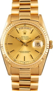 Rolex Day-Date President 18238 18K Yellow Gold