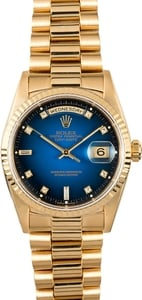 Rolex President 18238 Diamond Certified Pre-Owned