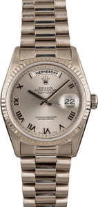 Used Rolex President 18k White Gold 18239