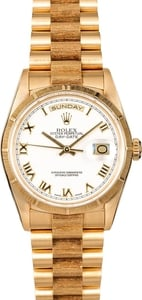Men's Rolex Presidential 18248 White Roman