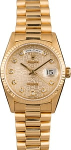 Pre-Owned Rolex President 18348 Diamond Dial