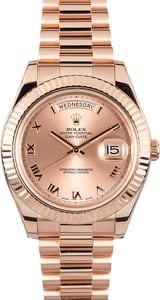 Rolex President 218235 Everose Gold 41MM Model