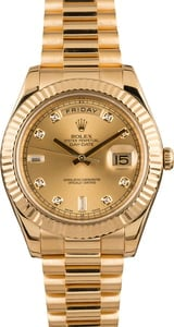 Pre Owned Rolex Day-Date 218238 Diamond Dial President