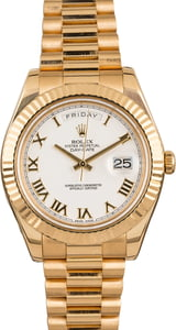 Rolex Day-Date 218238 White Roman 41MM President