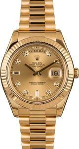 Pre-Owned Rolex President 218238 Champagne Diamond Dial