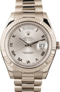 Rolex White Gold Day-Date 218239