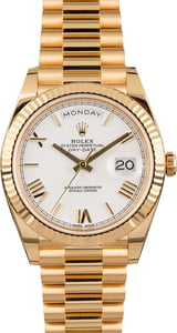 Rolex Day-Date 228238 President 40MM White Roman Dial