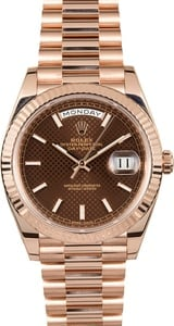 Rolex President 40mm Everose Gold 228235