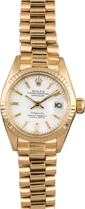 Rolex President 6917 White Index Dial