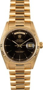 Rolex President Day-Date 18038 Black Dial