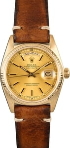 Rolex President Day-Date 18038 Leather 100% Authentic