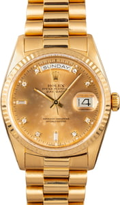 Rolex President Gold Day-Date 18238 Diamond Dial