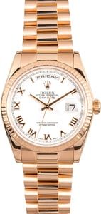 Rolex President Day-Date Rose Gold 118235