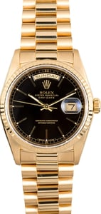 Rolex President Gold Day-Date 18238 Black