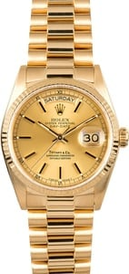 Rolex President Yellow Gold Day-Date 18038