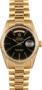 Pre Owned Rolex Presidential 18038 Black