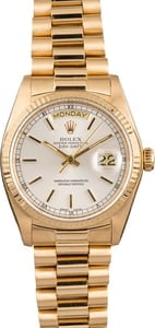 Pre Owned Rolex Presidential 18038 Day-Date Gold