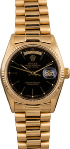 Pre Owned Rolex President 18038 Black Index Dial