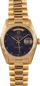 Pre-Owned Rolex President 18038 Blue Dial