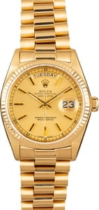 Pre Owned Rolex Presidential 18038 Day-Date