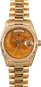 Rolex Presidential 18038 Wood Dial Day-Date
