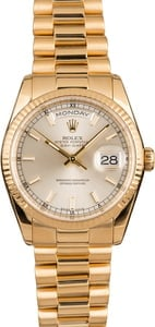 Pre-Owned Rolex President 118238 Luminous Markers