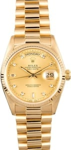 Rolex Presidential Day-Date Diamond Dial 18038