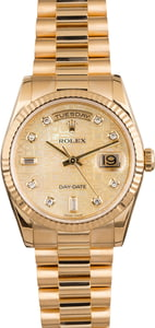 Preowned Rolex President Diamond Jubilee Dial 118238