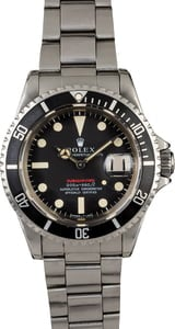 Vintage 1969 Rolex Red Submariner 1680