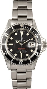 Rolex Red Submariner Vintage 1680