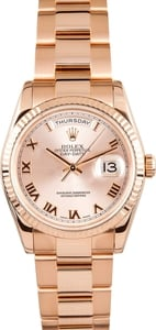 Rolex Rose Gold Day-Date 118235