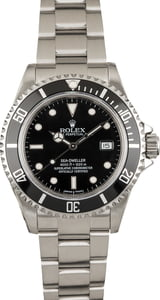 Used Men's Rolex Sea-Dweller 16600 Black Dial